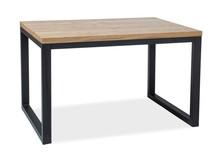 Stół LORAS II 120x80 - okleina naturalna/czarny