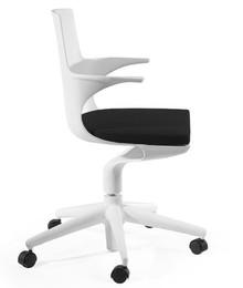 Bent Roll to fotel biurowy o ciekawym, modernistycznym kształcie. <br />Wykonany został z odpornego na uszkodzenia i zabrudzenia polipropylenu w...