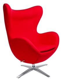 Fotel EGG SZEROKI - czerwony