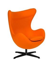 Fotel EGG CLASSIC BLACK to klasyka sama w sobie.<br />Jeden z najbardziej znanych kształtów fotela.<br />Fotel tapicerowany jest Wełną...