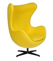 Fotel EGG CLASSIC BLACK wełna - musztardowy