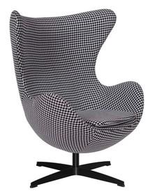 Fotel EGG CLASSIC BLACK to klasyka sama w sobie.<br />Jeden z najbardziej znanych kształtów fotela.<br />Fotel tapicerowany jest tkaniną z...
