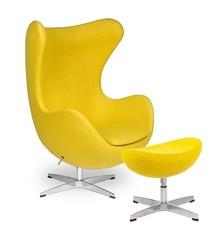 Zestaw Fotel EGG CLASSIC z podnóżkiem.<br />Fotel kształtem nawiązuje do jednego z najbardziej znanych projektów.<br />Wyposażony...