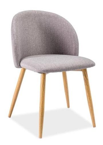 Krzesło Tapicerowane Erin Szary Signal Meble Sklep Meblepl