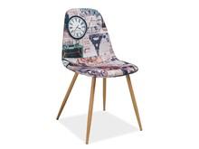 Krzesło CITI Paryż - wielobarwny
