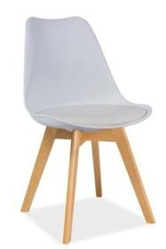 Krzesło KRIS buk - biały