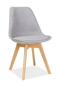 Krzesło DIOR buk - jasny szary