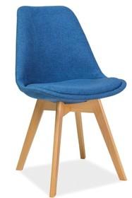 Krzesło DIOR buk - niebieski