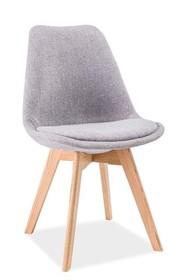 Krzesło DIOR dąb - jasny szary