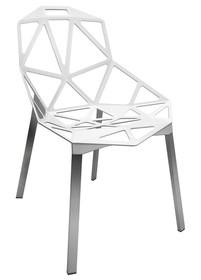 Krzesło SPLIT PREMIUM - biały/srebrny