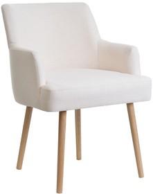 Fotel Wenecja zachwyca prostotą. Jest to tapicerowany, wygodny i stabilny mebel. Posiada krótkie podłokietniki oraz stożkowe nogi w skandynawskim stylu....