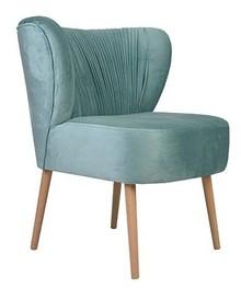 Fotel Prada posiada lamówkę, szerokie plisowane i dobrze wyprofilowane oparcie. Mebel z kolekcji skandynawskiej o charakterystycznych stożkowych nóżkach....