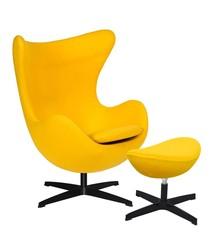 Zestaw Fotel EGG CLASSIC BLACK z podnóżkiem.<br />Fotel kształtem nawiązuje do jednego z najbardziej znanych projektów.<br...