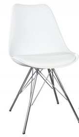 Krzesło HUGO - biały/chrom