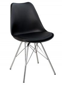 Krzesło HUGO - czarny/chrom