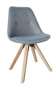 Krzesło HUGO WOOD tkanina - szary pikowany