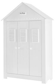 Bardzo pojemna szafa trzydrzwiowa z kolekcji Marsylia MDF wyposażona jest w charakterystyczny dla kolekcji Marsylia dekor La Plage (fr. plaża). Wewnątrz...