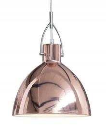 Industrialny design w modnym wykończeniu. Lampa, która rozświetli surowe wnętrze i nada mu uroku. Źródło światła: żarówka E27,...