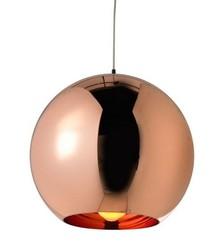 Lampa wykonana ze szkła metalizowanego <br />w kolorze miedzianym.<br />Wysokość klosza: 35 cm<br />Źródło światła: E 27<br...