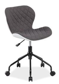 Fotel obrotowy RINO - szary/biały