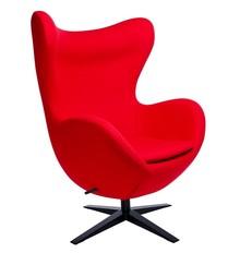 Fotel EGG SZEROKI BLACK - czerwony