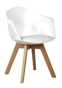Fotel HOLEY ARM - biały