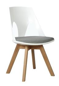 Krzesło HOLEY - biały/szary