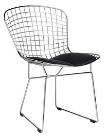 Krzesło NET SOFT - chrom/czarny