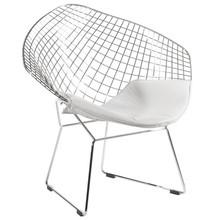 Fotel VOLIER SOFT - chrom/biały
