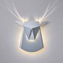 Lampa kinkietowa dla dzieci w kształcie jelenia.<br />W całości została wykonana ze stali węglowej.<br />Źródło światła: LED...