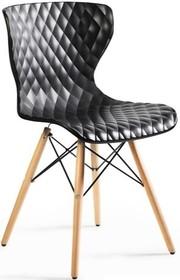 Cechy:  - Oparcie i siedzisko wykonane z mocnego tworzywa PP stanowiące integralną całość - Nogi krzesła wykonane z naturalnego drewna bukowego ...