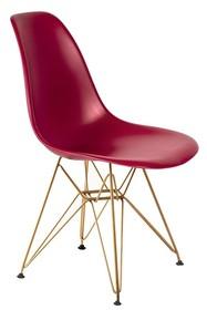 Krzesło DSR GOLD - bordowy