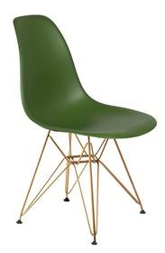 Krzesło DSR GOLD - butelkowa zieleń