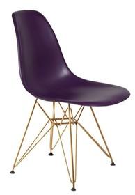 Krzesło DSR GOLD - fioletowa purpura