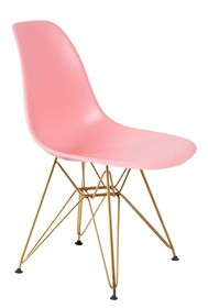Krzesło DSR GOLD - jasna brzoskwinia