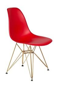 Krzesło DSR GOLD - krwista czerwień