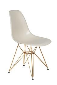 Krzesło DSR GOLD - migdał pralinowy