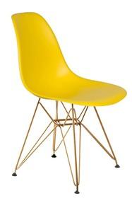 Krzesło DSR GOLD - słoneczny żółty