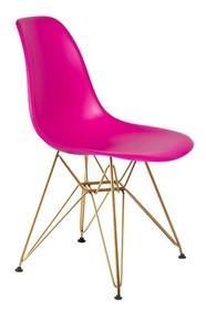 Krzesło DSR GOLD - wściekły róż