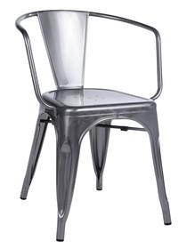 Krzesło TOWER ARM - metaliczny