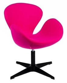 Fotel SWAN BLACK.<br />Oparcie i siedzisko tapicerowane są Wełną kaszmirową (70% wełna naturalna, 30% poliester).<br />Podstawa wykonana ze...