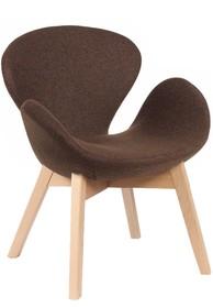 Fotel SWAN WOOD brązowy - wełna, podstawa bukowa