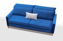 Sofa Azja w nowoczesnym stylu posiada pojemnik na pościel oraz funkcję spania o wymiarze 191x140. Szeroki wybór tkanin umożliwia dopasowanie sofy do...