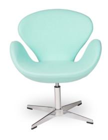 Fotel SWAN UP marki MODESTO DESIGN.<br>Oparcie i siedzisko tapicerowane wełną kaszmirową w kolorze miętowym.<br>Podstawa chromowana z...
