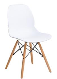 Krzesło LEAF WOOD - biały