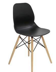 Krzesło LEAF WOOD - czarny