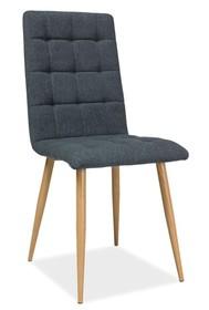 Krzesło OTTO tkanina - dąb/grafitowy