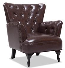 CUBANO fotel wypoczynkowy ciemny brąz