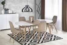 Stół rozkładany EDWARD 120x100 - biały/dąb san remo