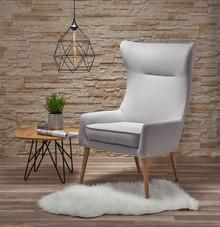 FAVARO 2 fotel wypoczynkowy tkanina jasny popiel